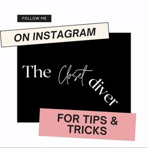 Follow me on Instagram for tips and tricks